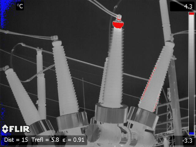 High Voltage Infrared Image